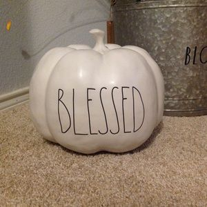 Rae Dunn Large BLESSED Pumpkin